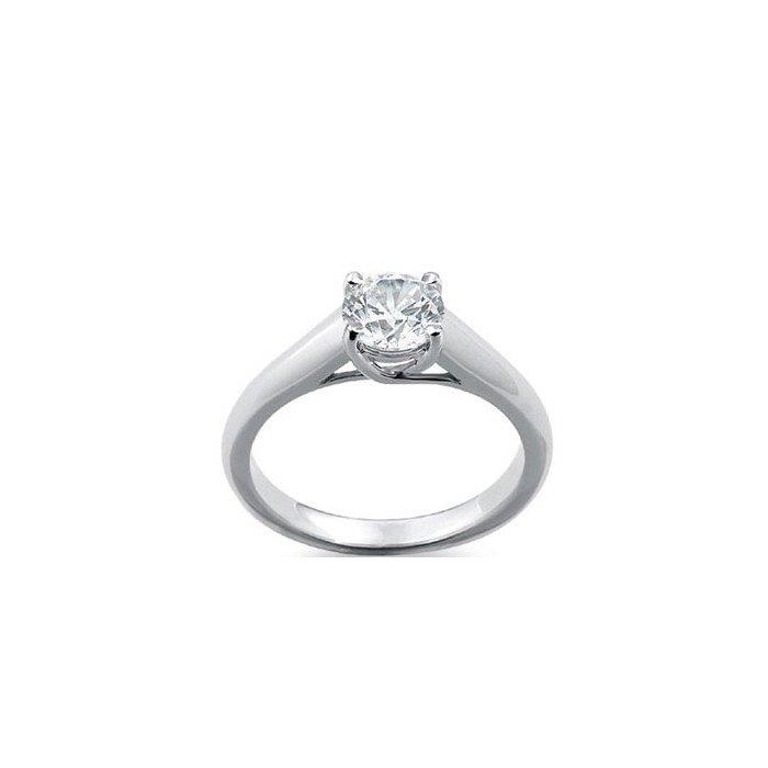 Solitaire en or blanc et diamant de 0.25ct vue 1