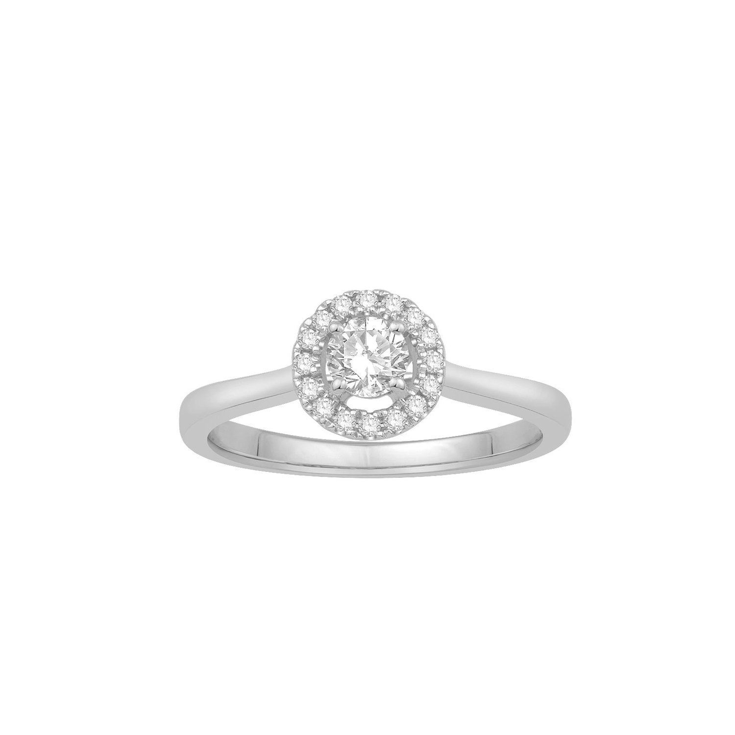 Bague en or blanc et diamants de 0.44ct