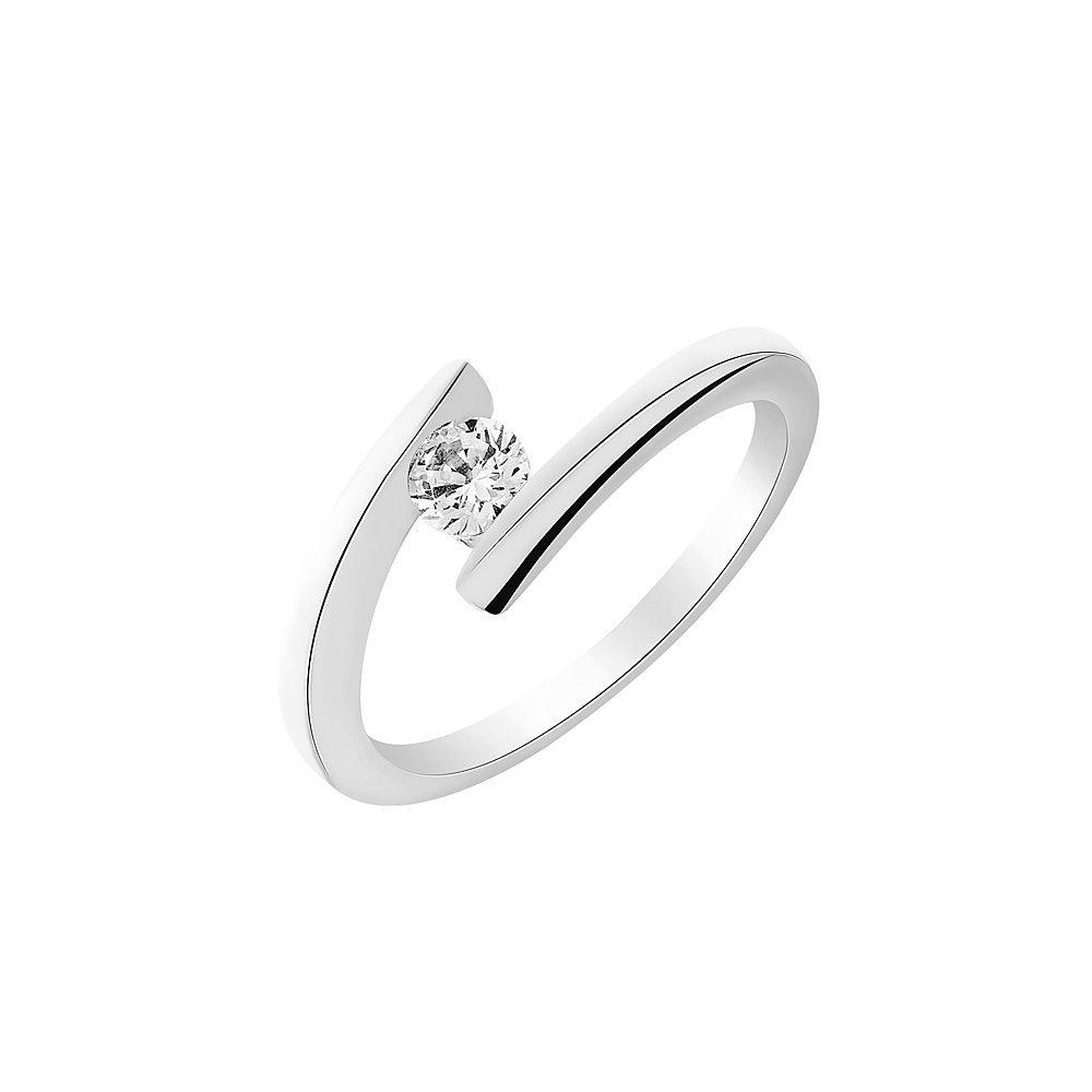 Solitaire en or blanc et diamant de 0.11ct  vue 1