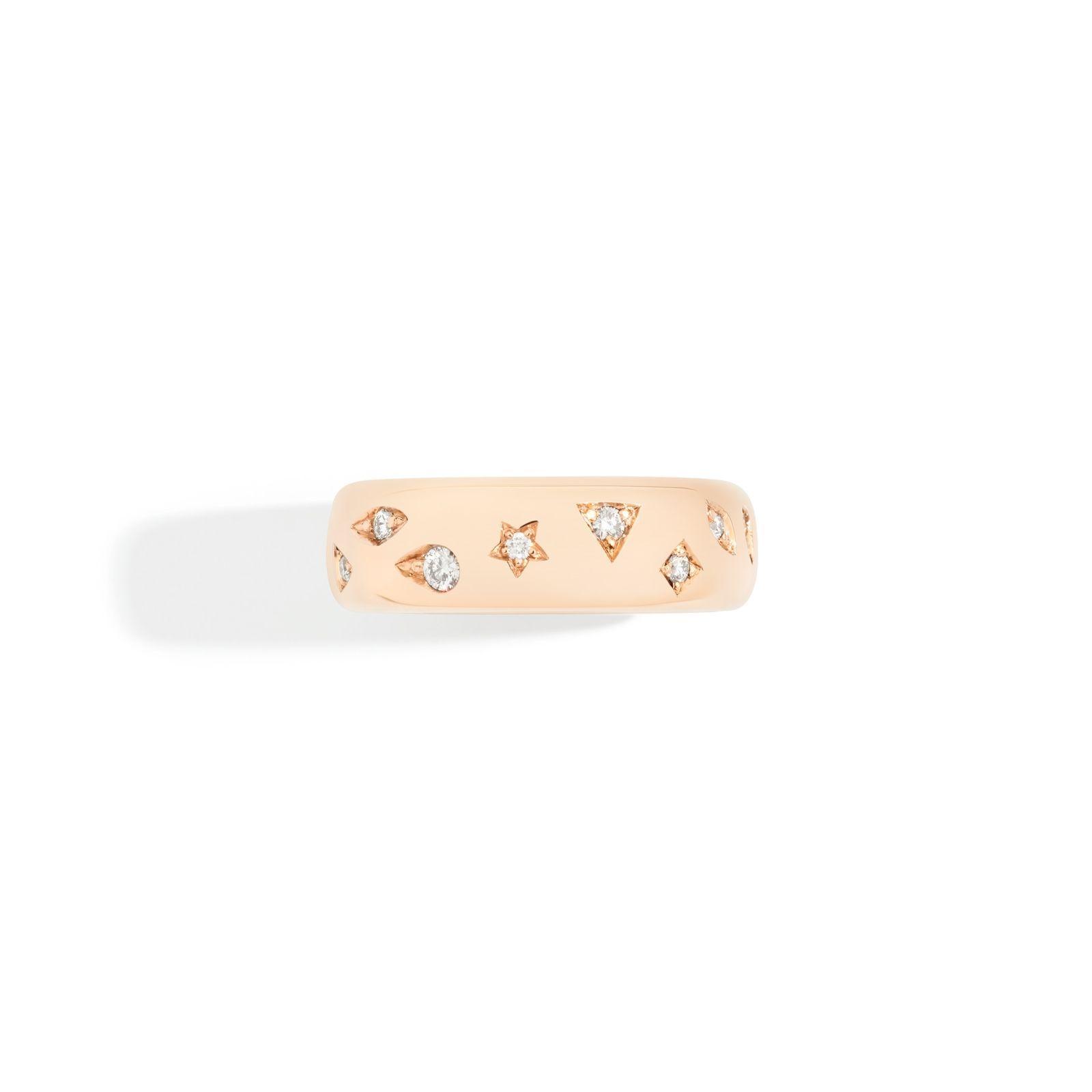 Bague Pomellato Iconica en or rose et diamant vue 2