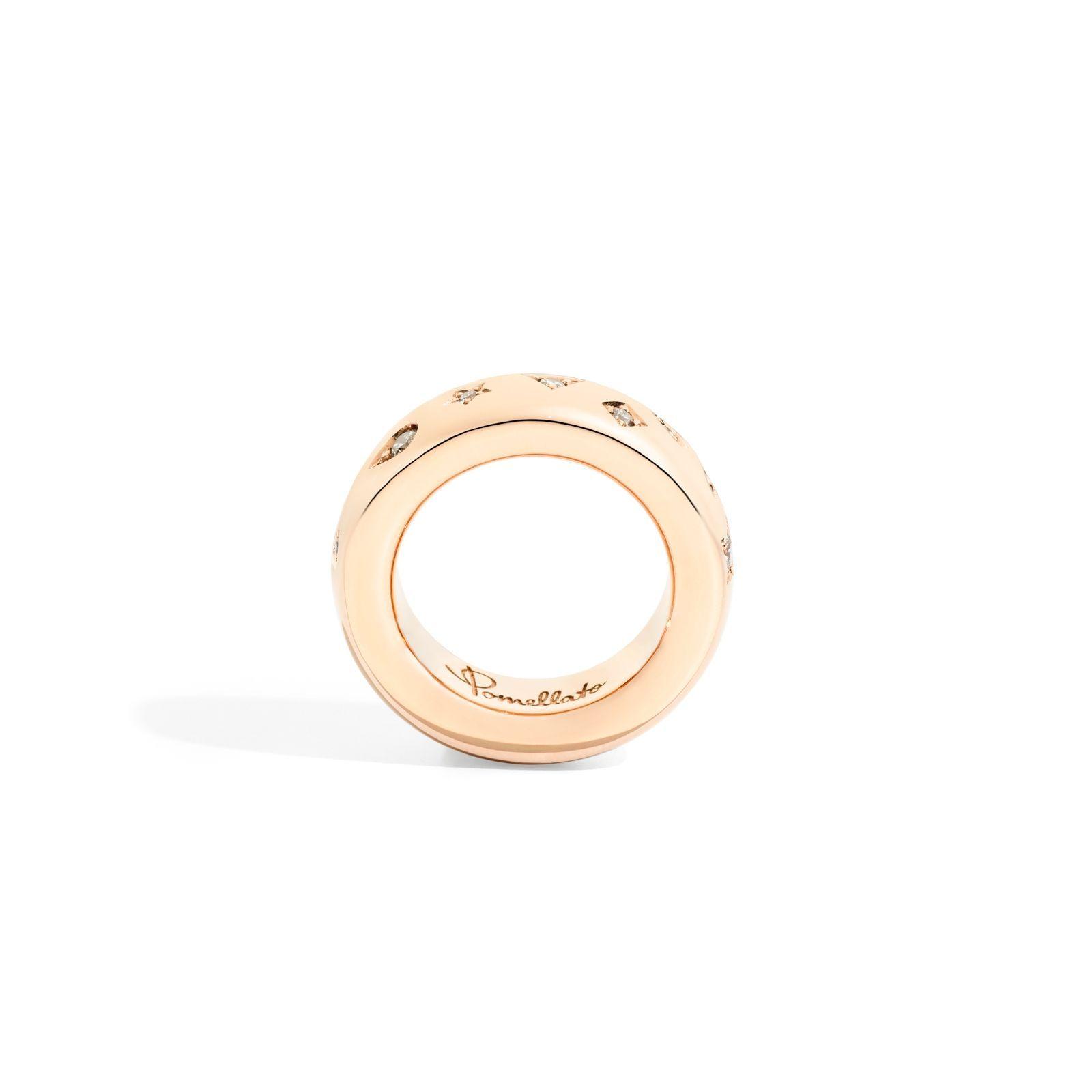Bague Pomellato Iconica en or rose et diamant vue 3