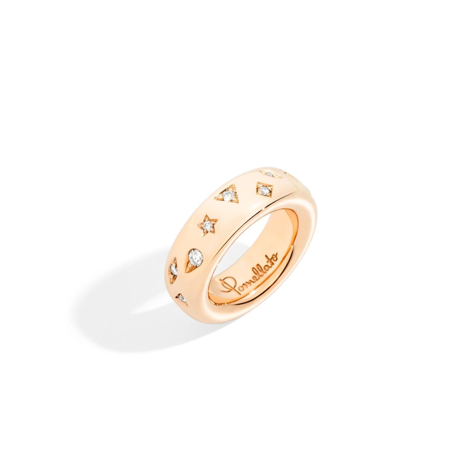 Bague Pomellato Iconica en or rose et diamant vue 1