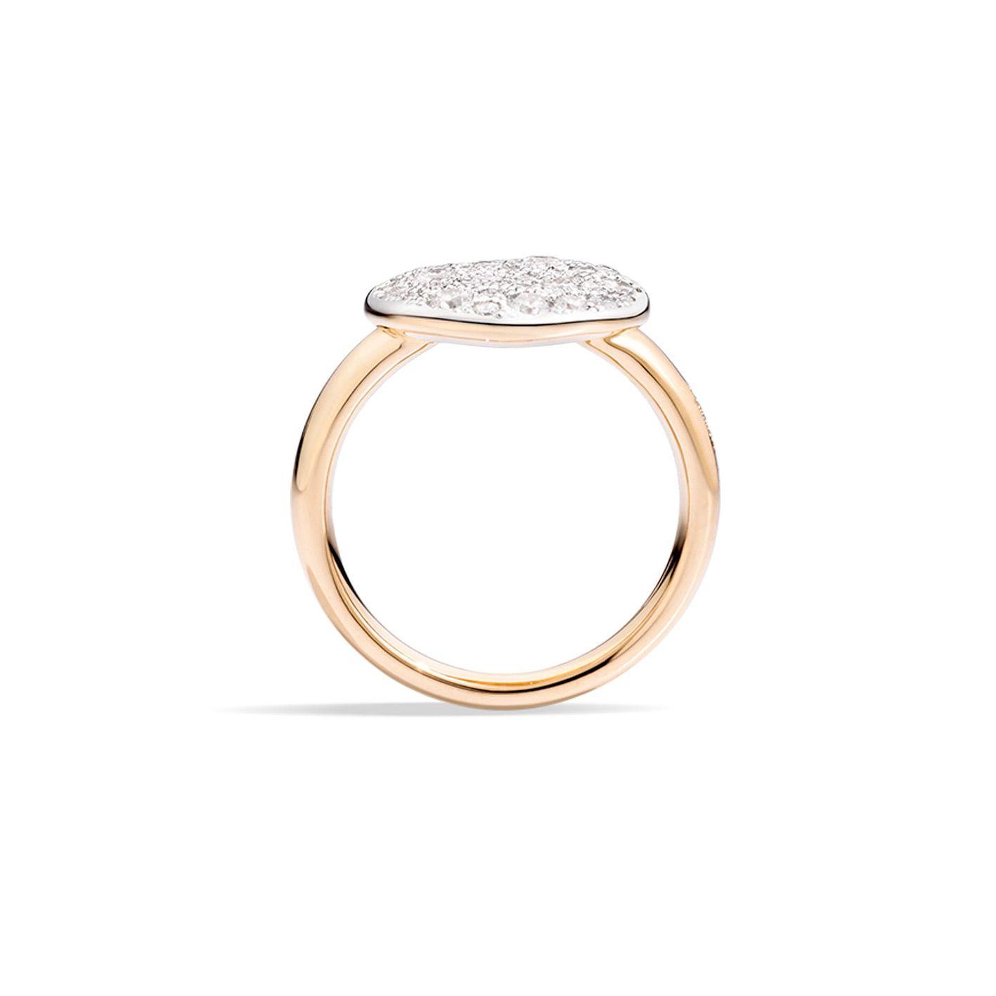 Bague Pomellato Sabbia en Or rose et Diamant vue 2
