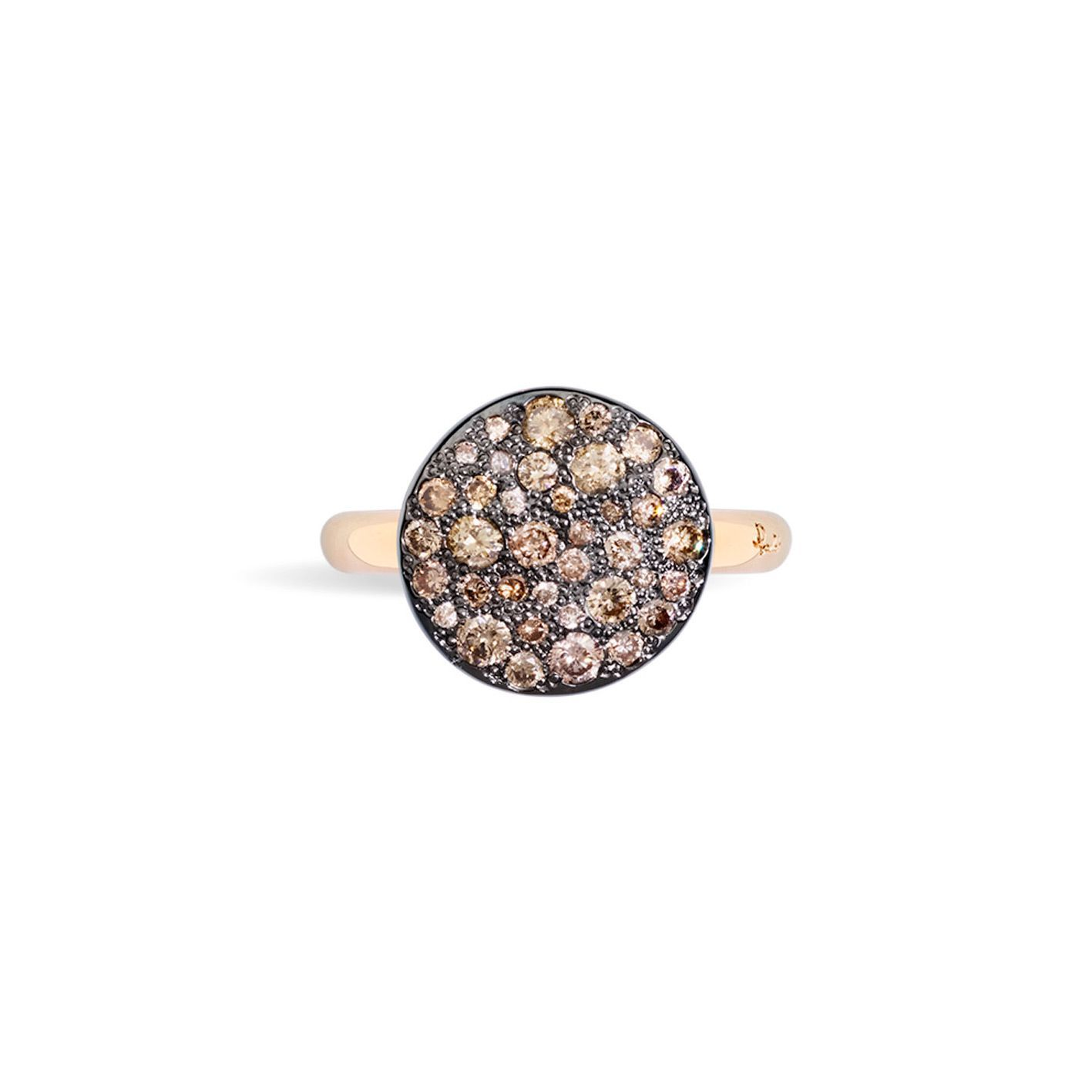 Bague Pomellato Sabbia en Or rose et Diamant brun vue 2