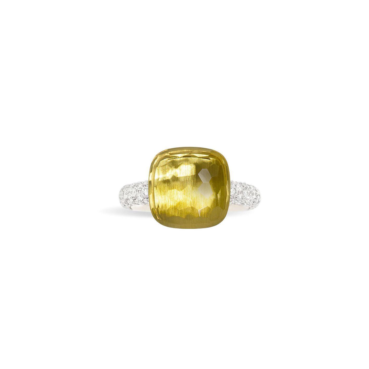 Bague Pomellato Nudo en Or rose, or blanc, Diamant et quartz vue 3