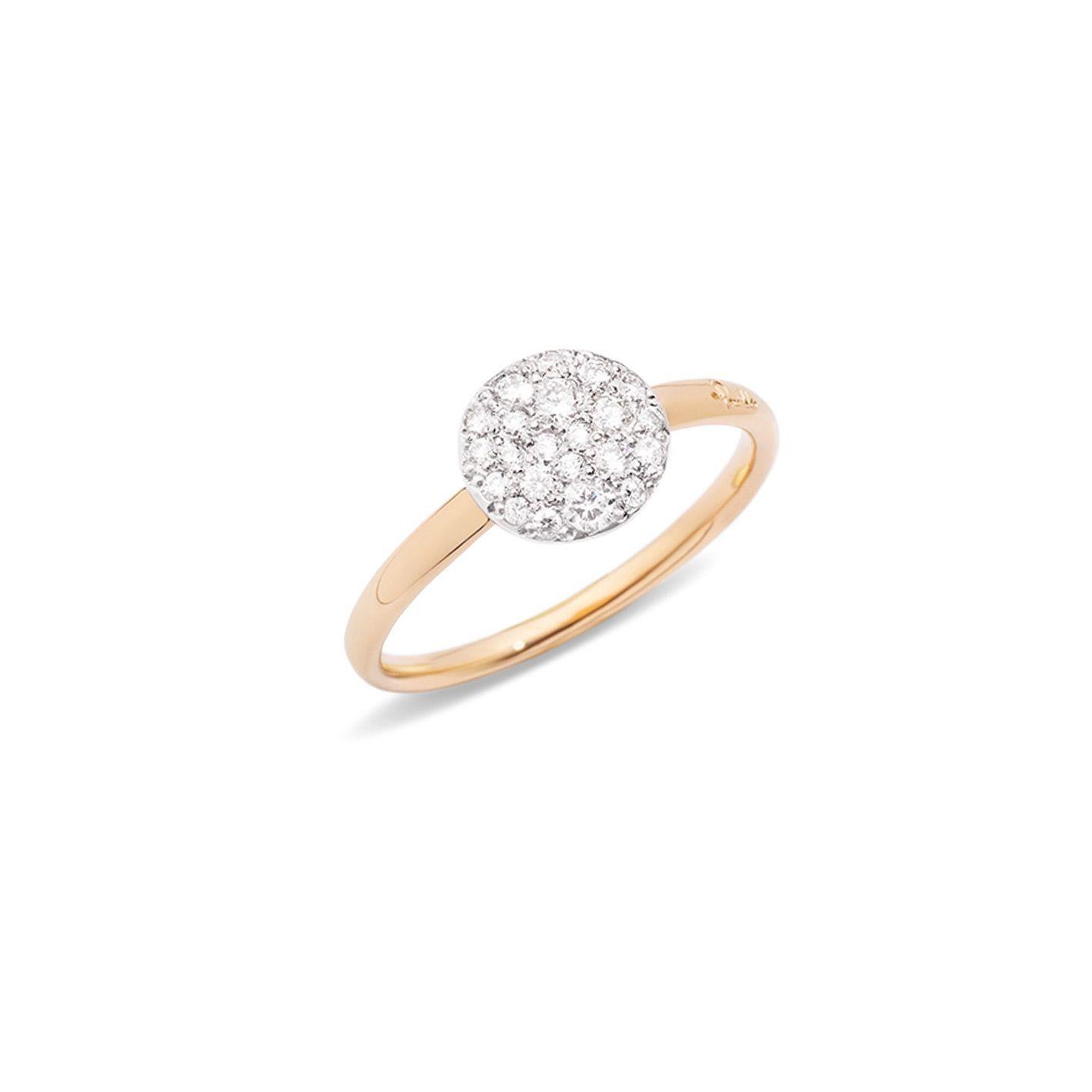 Bague Pomellato Sabbia petit modèle en Or rose et Diamant vue 1