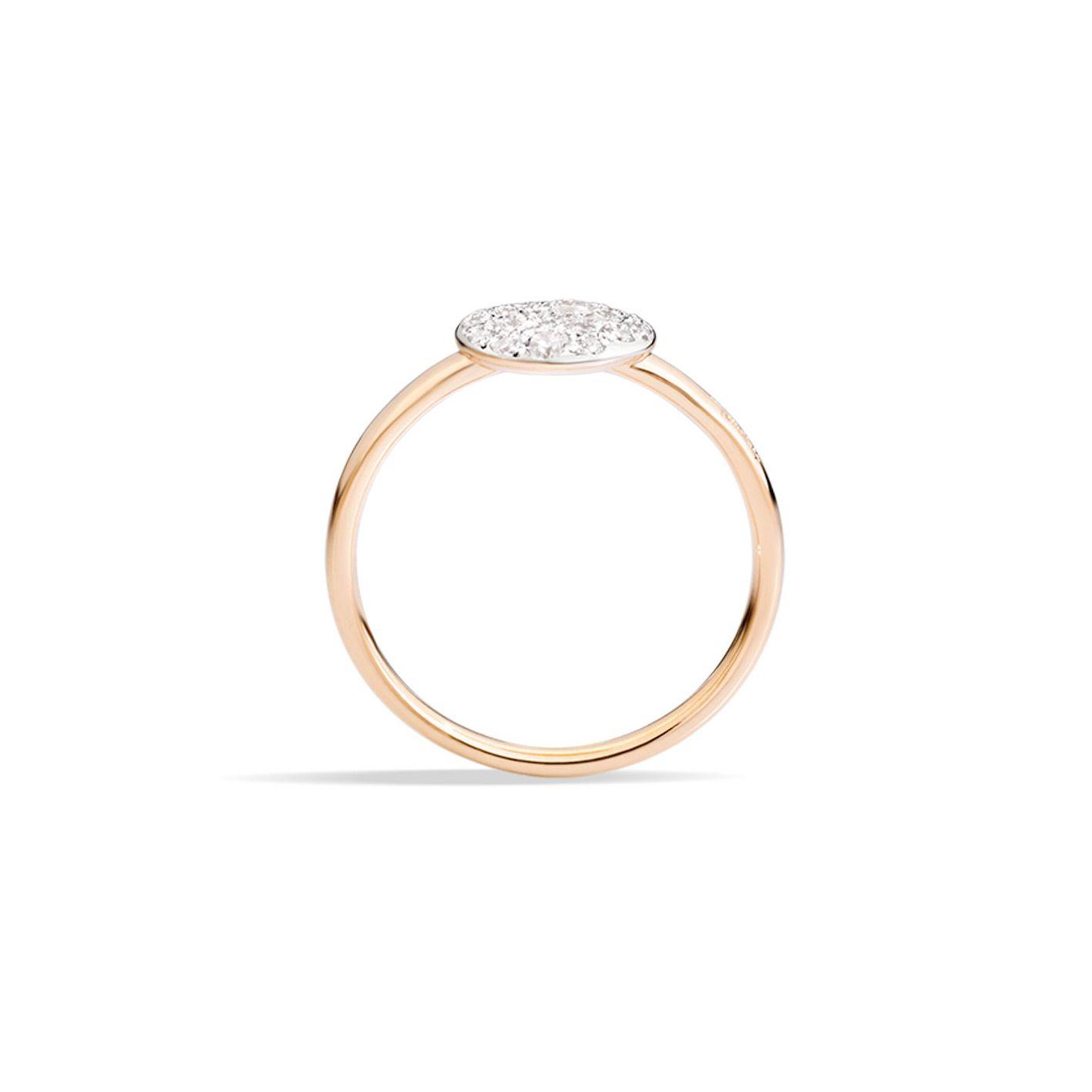 Bague Pomellato Sabbia petit modèle en Or rose et Diamant vue 2