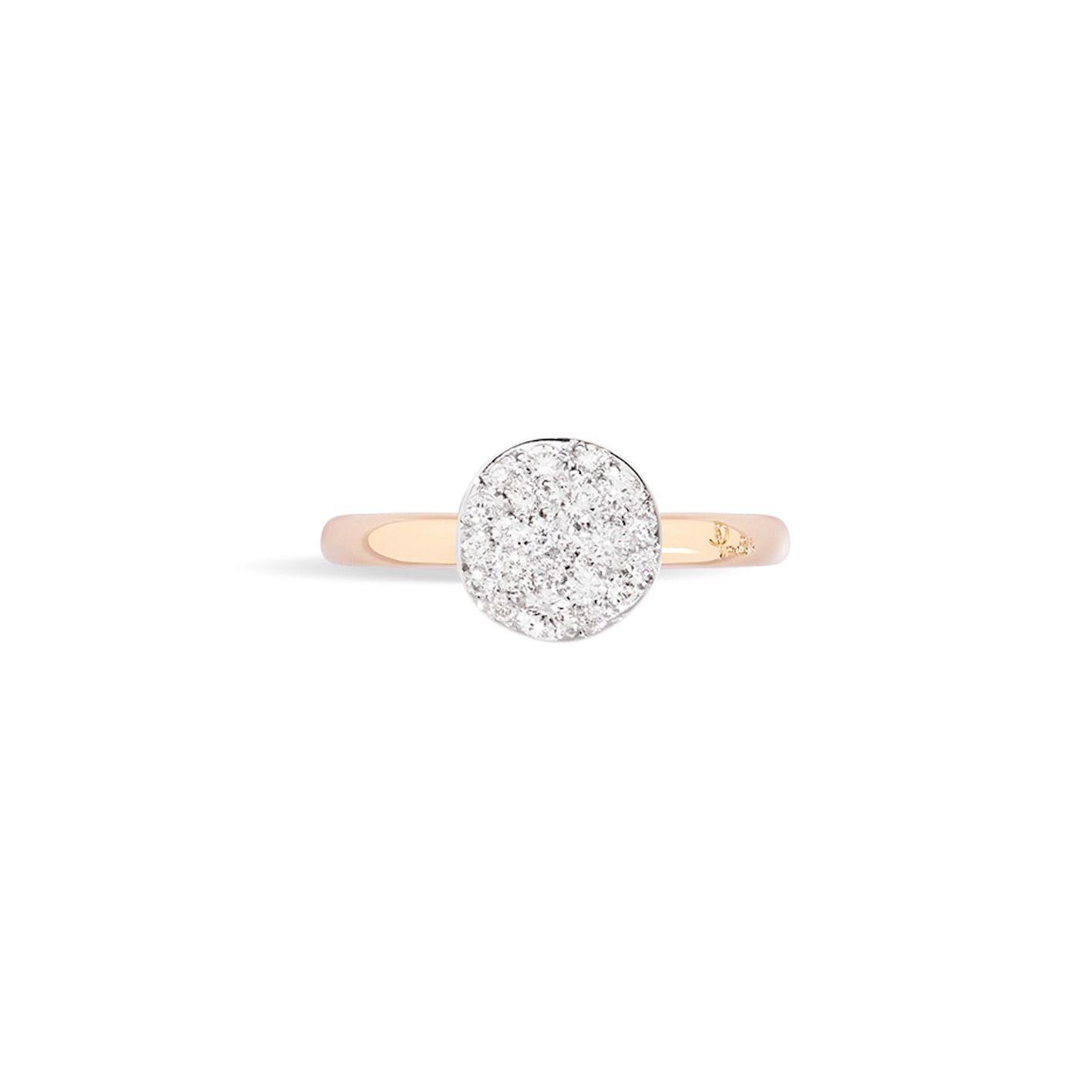 Bague Pomellato Sabbia petit modèle en Or rose et Diamant vue 3