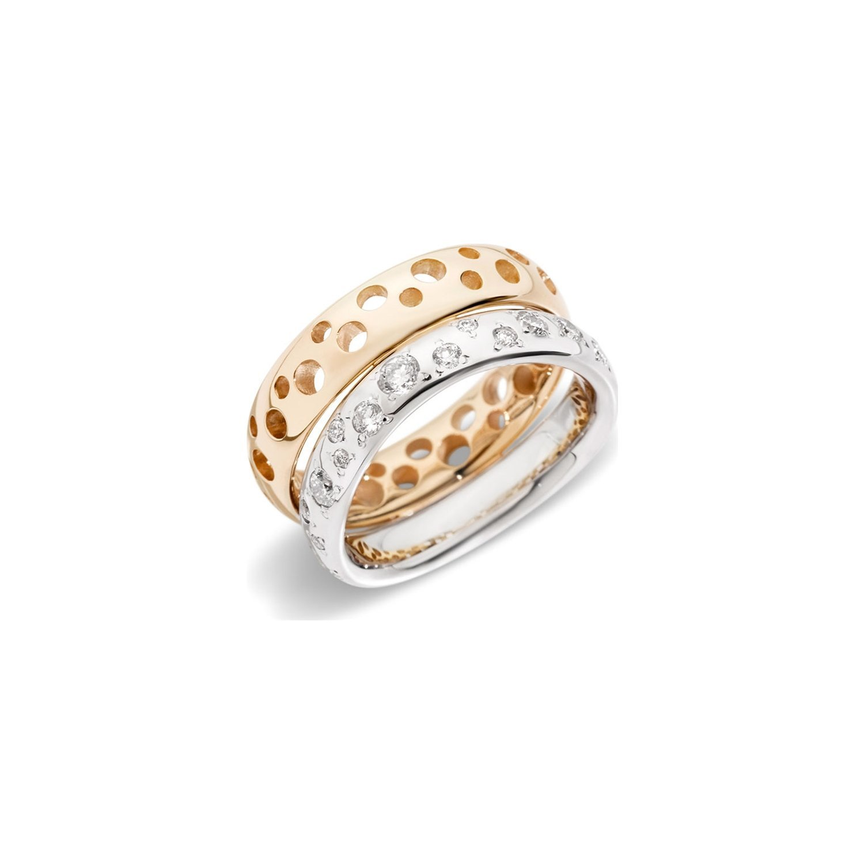 Bague Pomellato Milano en or blanc, or rose et diamants