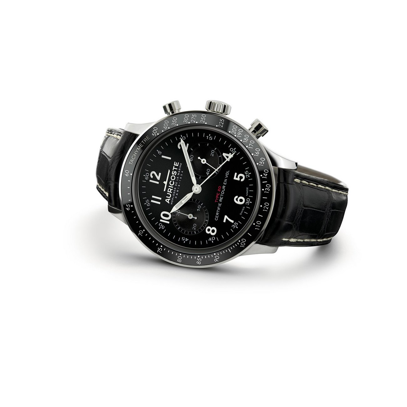 Montre Auricoste Type 20  FlyBack 42mm A20NT vue 2