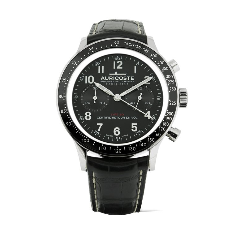 Montre Auricoste Type 20  FlyBack 42mm A20NT vue 1