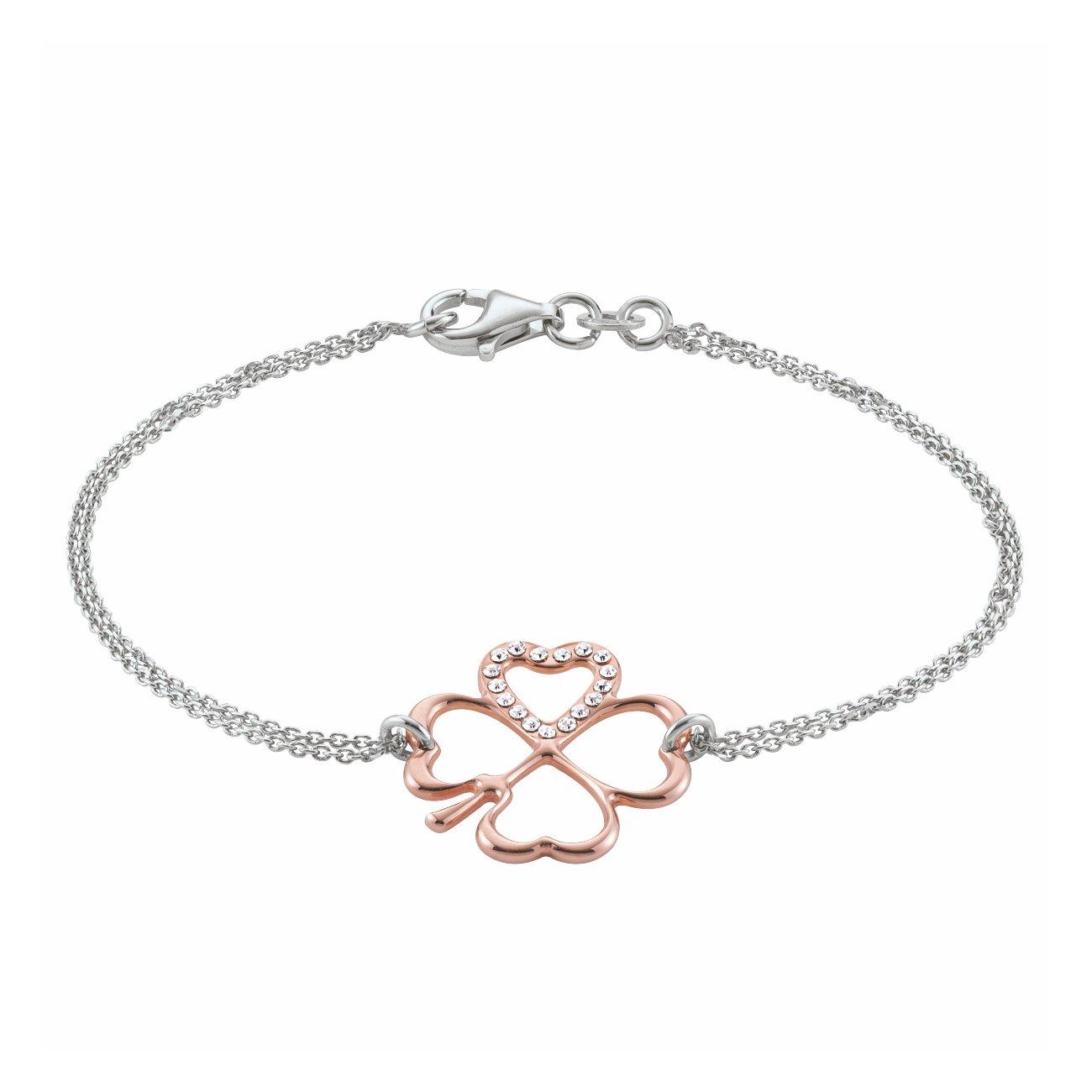 Bracelet Jourdan Bijoux Inanna en argent, plaqué or rose et oxyde de zirconium