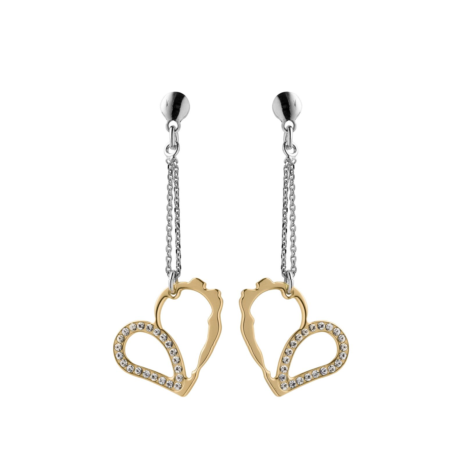 Boucles d'oreilles Jourdan Bijoux Aphrodite en argent, plaqué or jaune