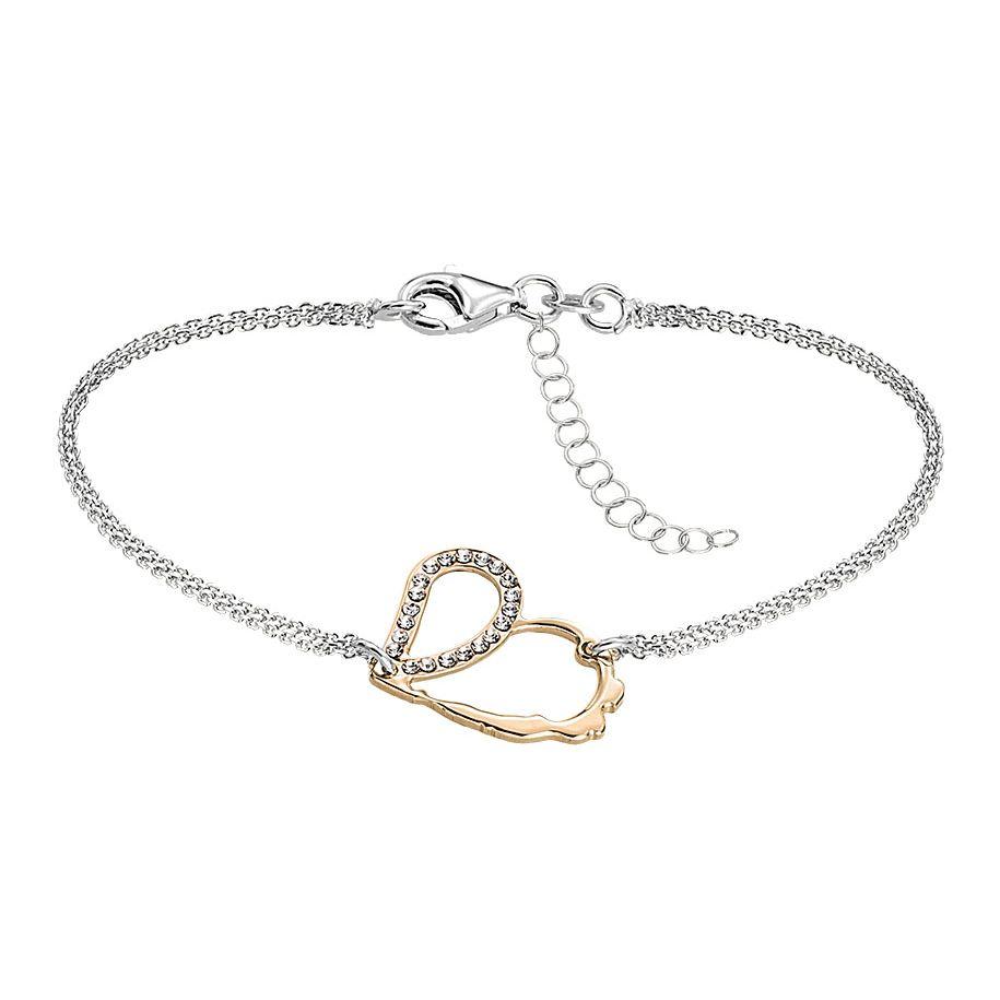 Bracelet Jourdan Bijoux Aphrodite en argent, plaqué or jaune