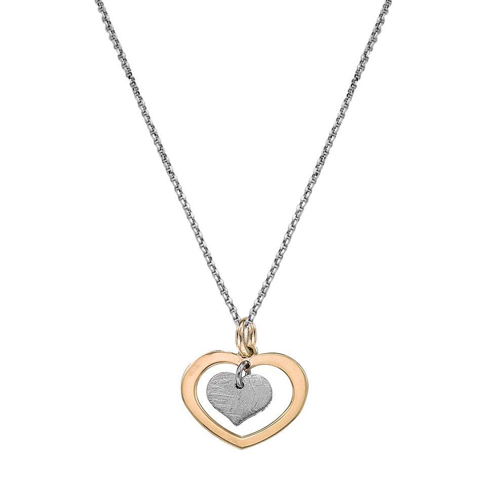 Collier Jourdan Bijoux Valentine en argent, plaqué or jaune