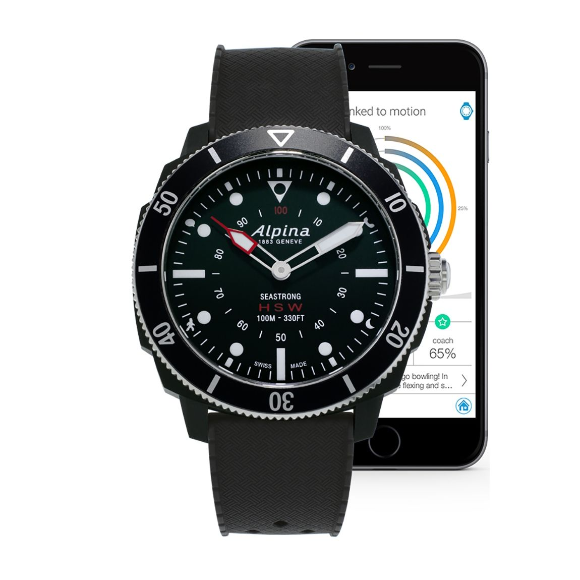 Montre Alpina Seastrong Horological Smartwatch vue 2