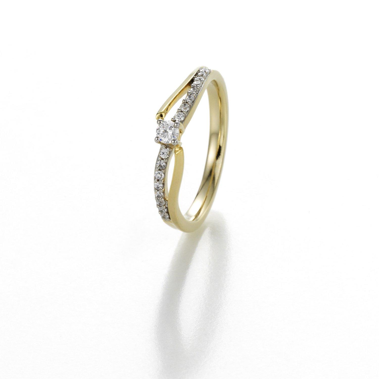 Alliance en or jaune et diamants de 0.21ct vue 1