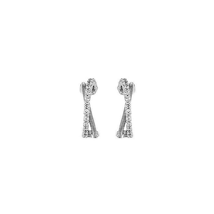Boucles d'oreilles Jourdan Bijoux Adagio en argent et oxyde de zirconium