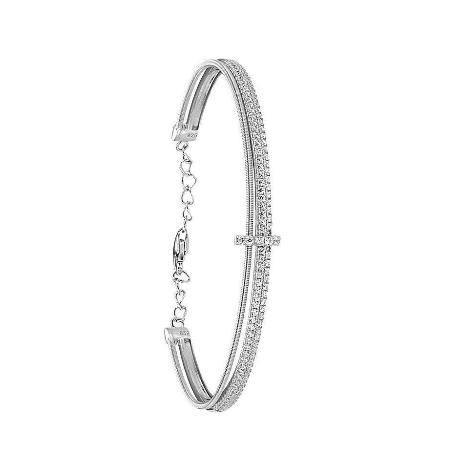 Bracelet Jourdan Bijoux Adagio en argent et oxyde de zirconium
