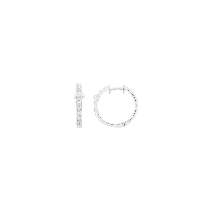 Boucles d'oreilles Guy Laroche en argent et oxydes de zirconium