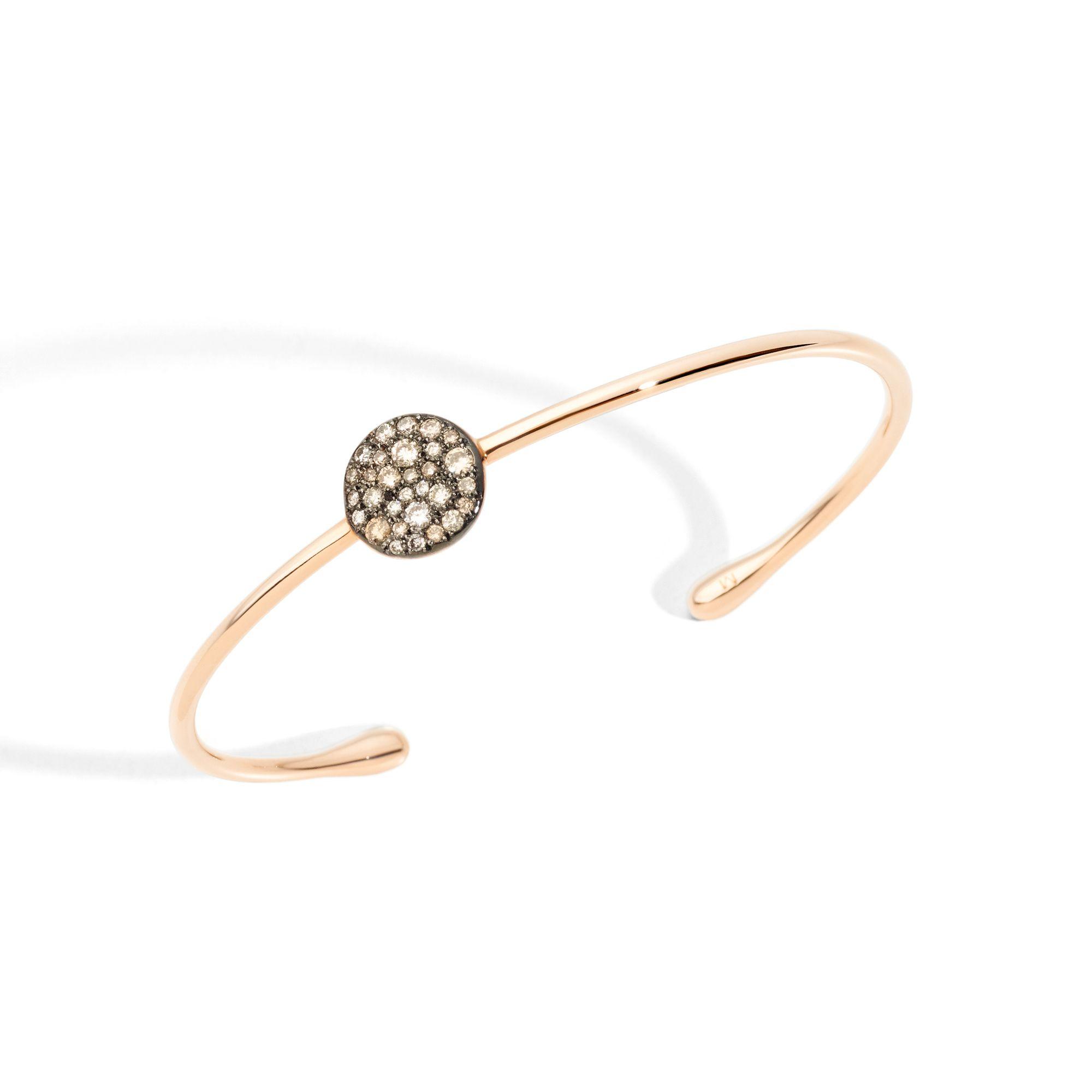 Bracelet Pomellato Sabbia en or rose et diamants bruns