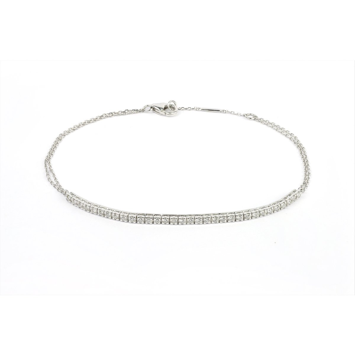 Bracelet en or blanc et diamants de 0.33ct