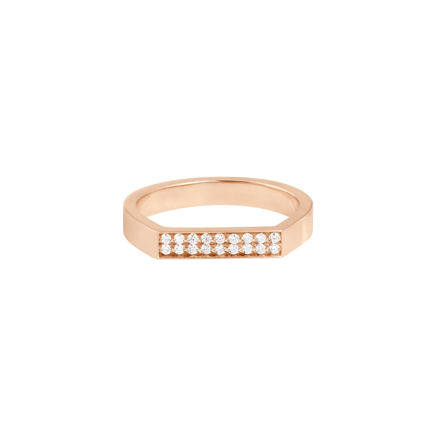 Bague Vanrycke Bonnie & Clyde en or rose et 18 diamants vue 1