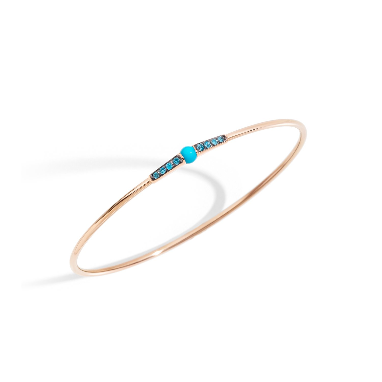 Bracelet Pomellato M'ama non m'ama en or rose, turquoise et oxydes de zirconium
