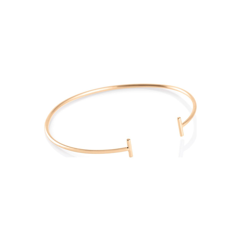 Bracelet GINETTE NY GOLD & DIAMOND STRIP en or rose