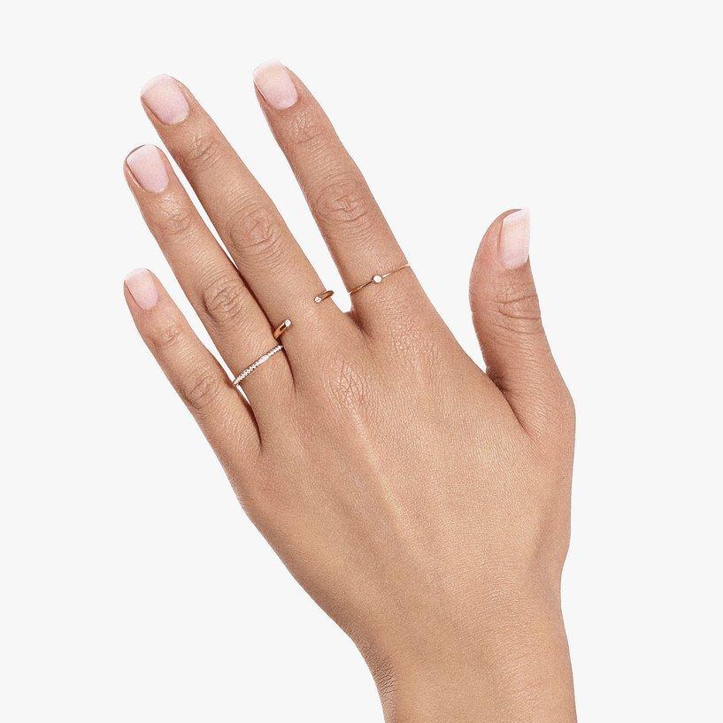 Bague Vanrycke Massaï en or rose et 2 diamants vue 4