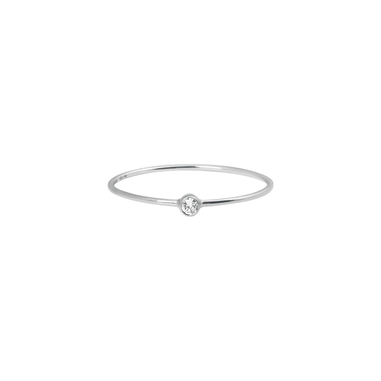 Bague Vanrycke One en or blanc et 1 diamant vue 1