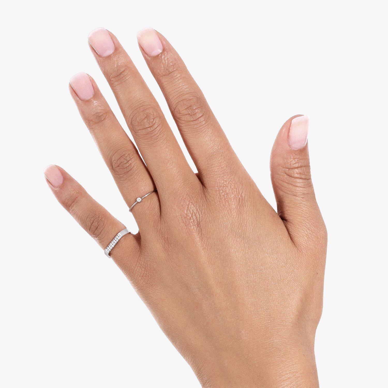 Bague Vanrycke One en or blanc et 1 diamant vue 4