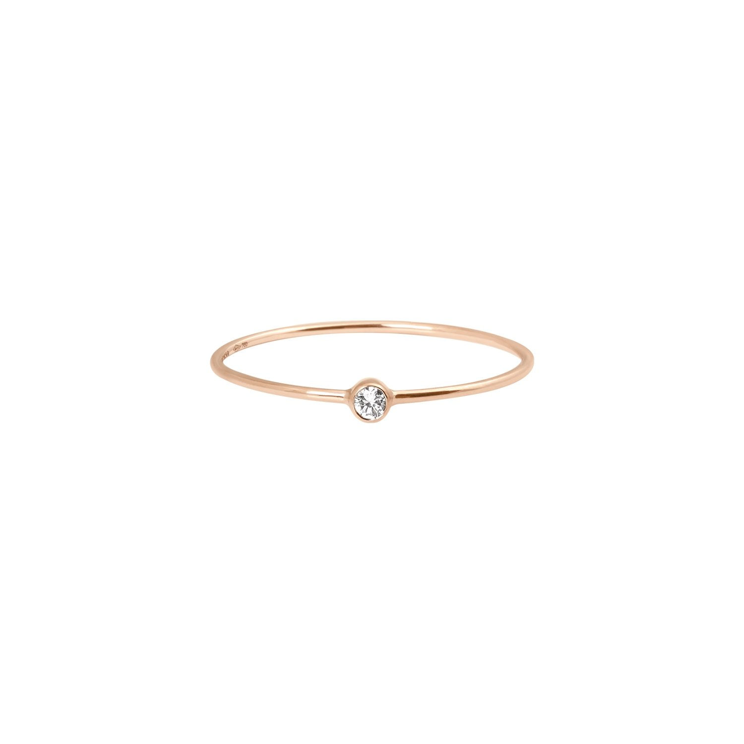 Bague Vanrycke One en or rose et 1 diamant vue 1