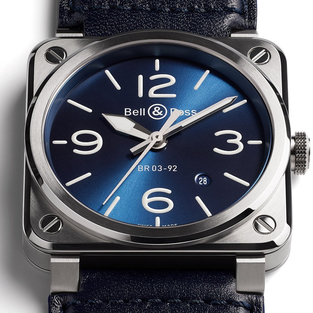 Montre Bell & Ross BR03-92 Blue Steel vue 2