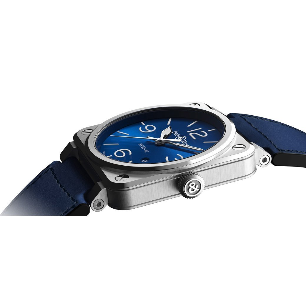 Montre Bell & Ross BR03-92 Blue Steel vue 3