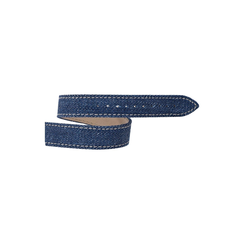 Bracelet Michel Herbelin Antarès en cuir jean bleu