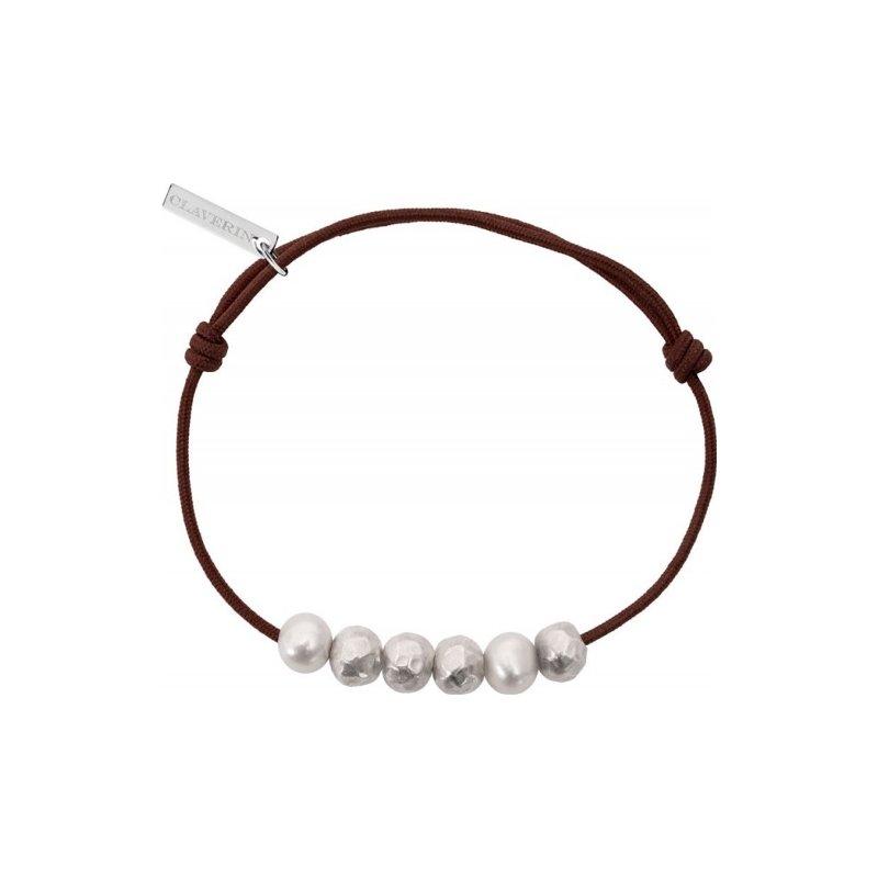 Bracelet sur cordon Claverin Unisex Cords en argent et or blanc et 58106cced34a6 vue 2