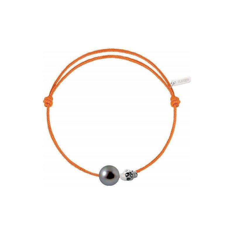 Bracelet sur cordon Claverin Unisex Cords en or blanc et perle de Tahiti vue 2