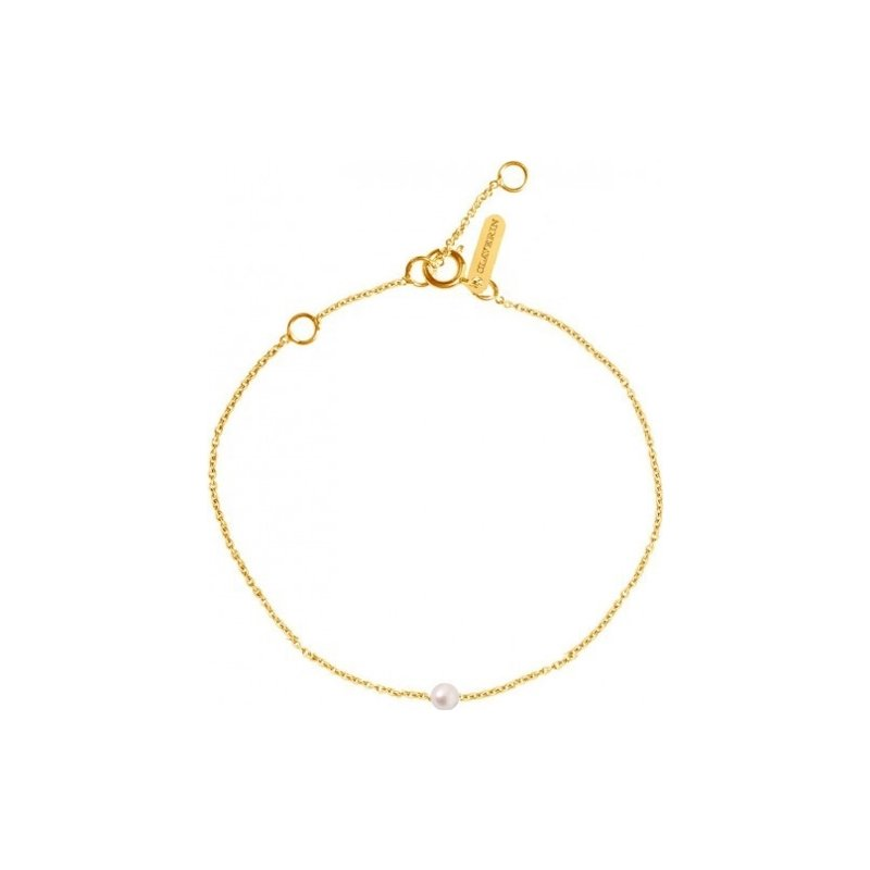 Bracelet Claverin Mini Simply Mini en or jaune et perle blanche vue 1