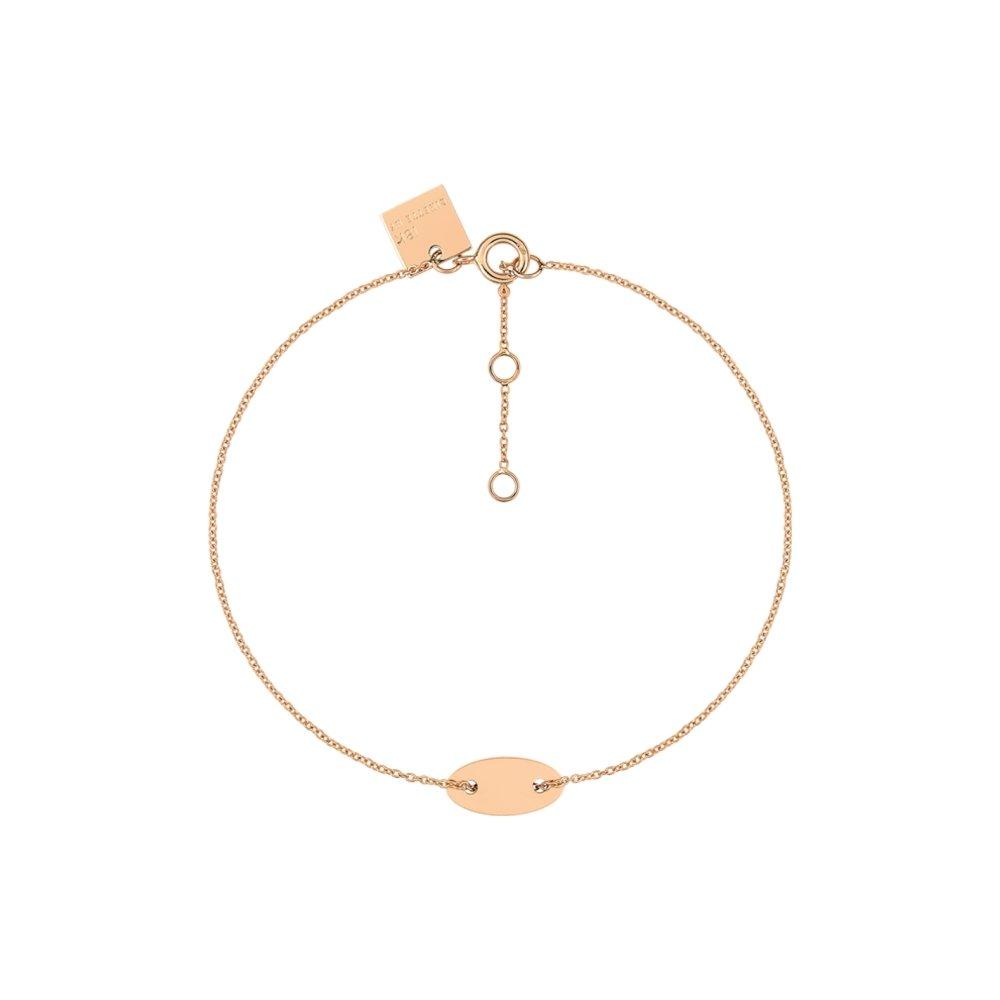 Bracelet GYNETTE NY ELLIPSES & SEQUINS en or rose