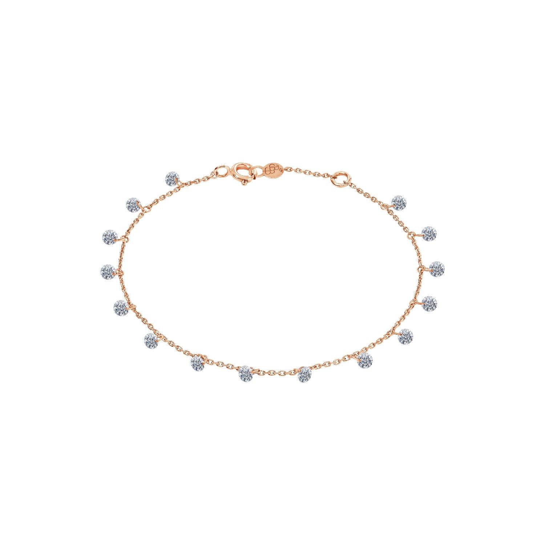 Bracelet LA BRUNE & LA BLONDE 360° en or rose et diamants de 1ct
