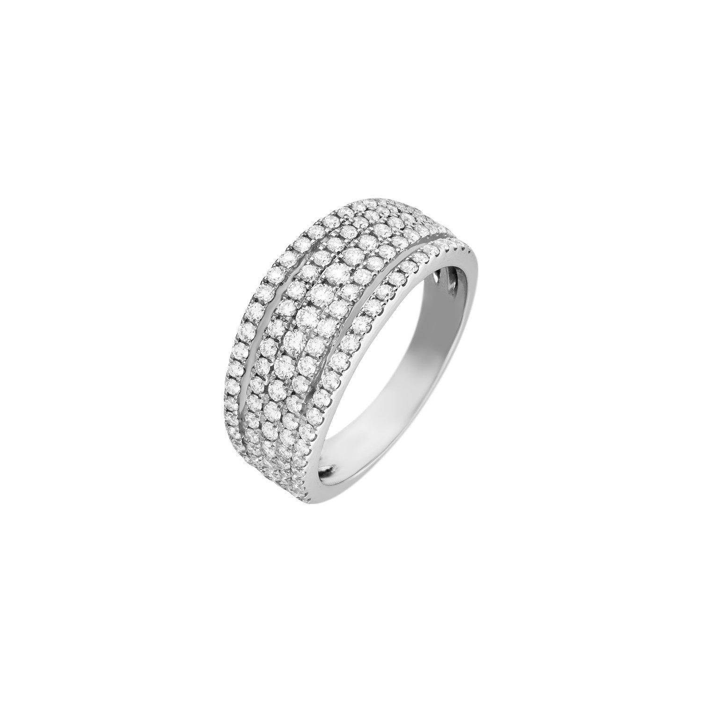 Achat Bague Ruban En Or Blanc Et Diamants