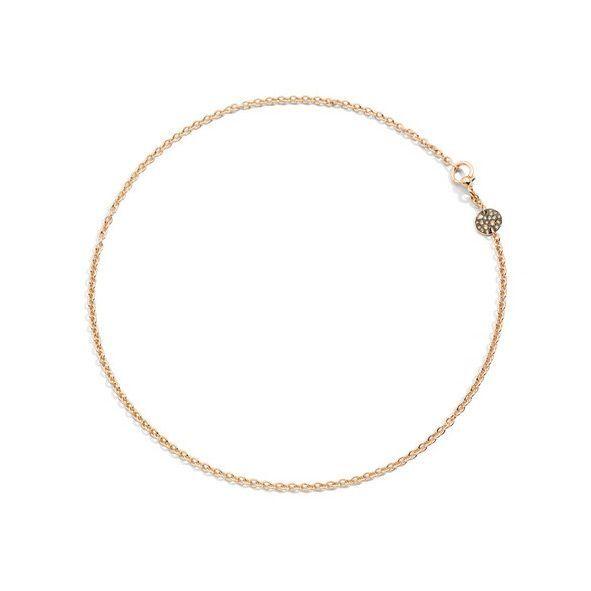 Collier Pomellato Sabbia en Or rose et Diamant brun longueur 42cm vue 1