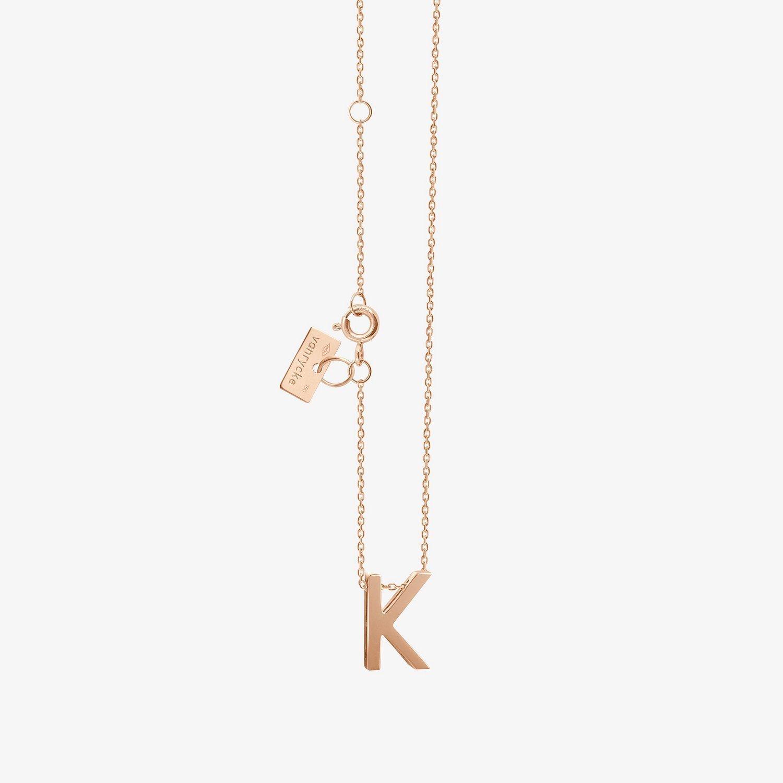Collier Vanrycke Abécédaire lettre K en or rose