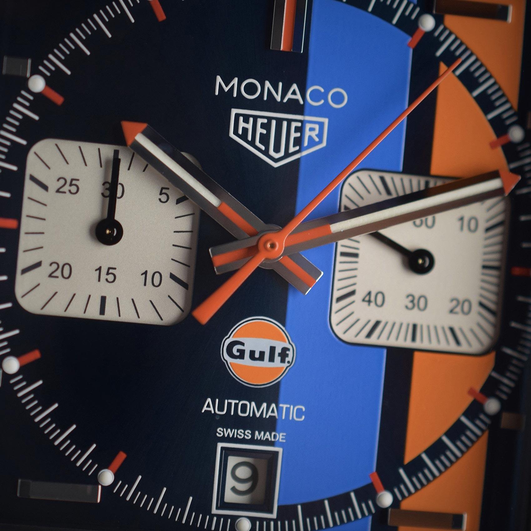 Montre TAG Heuer Monaco Edition Spéciale Gulf 2018 vue 4
