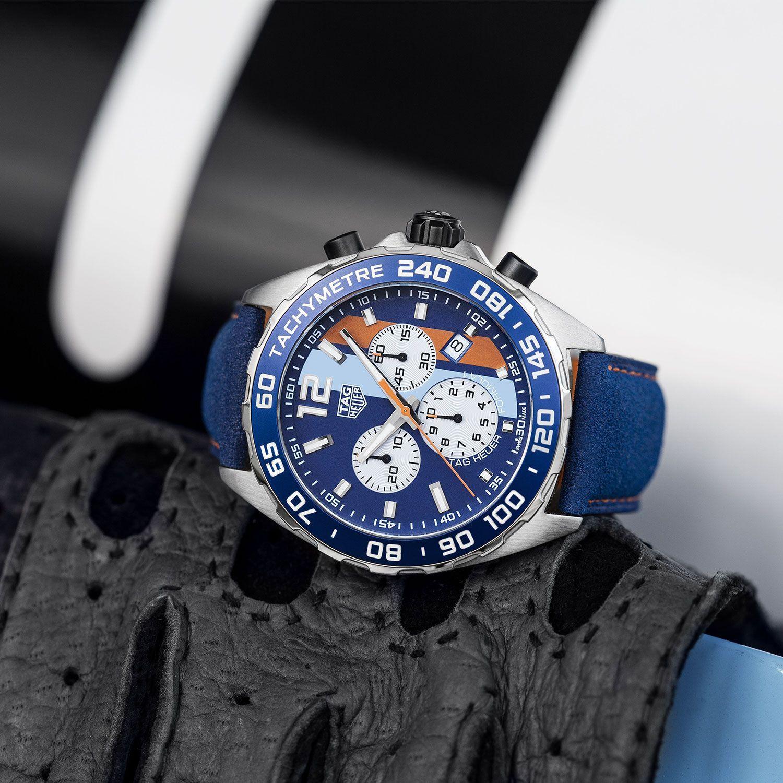 Montre TAG Heuer Formula 1 Edition Spéciale Gulf vue 2