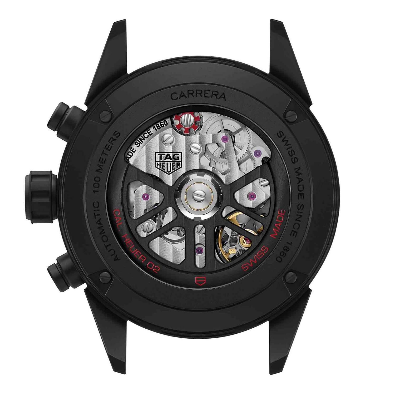 Montre Tag Heuer Carrera Calibre Heuer 02 Automatique Chronographe vue 3