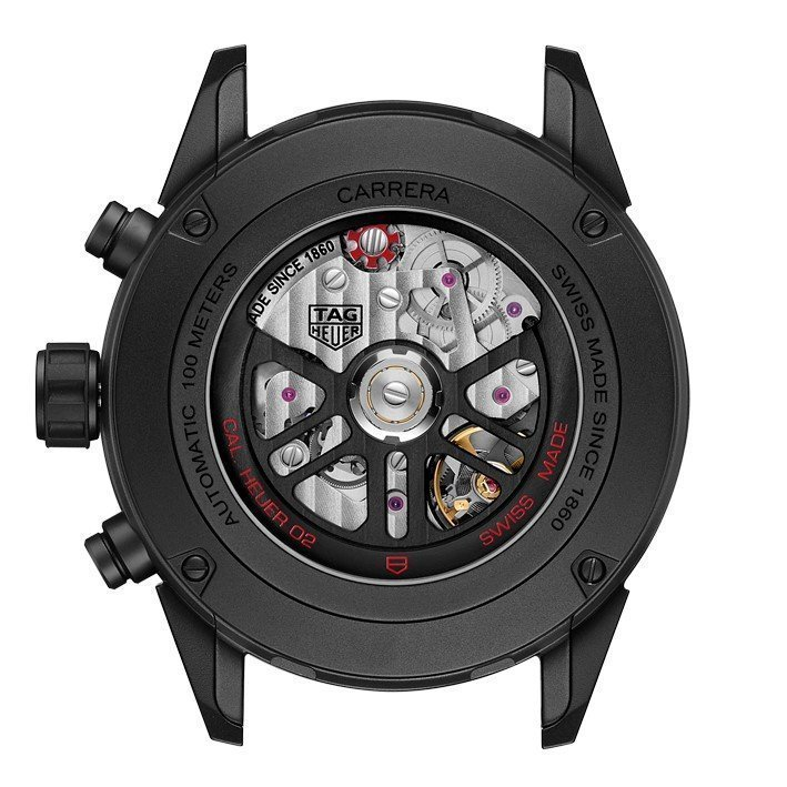 Montre Tag Heuer Carrera Calibre Heuer 02 Automatique Chronographe 45mm vue 2