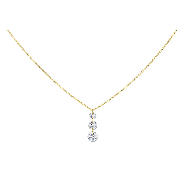 Collier LA BRUNE & LA BLONDE 360° Trio en or jaune et diamants de 0.40ct
