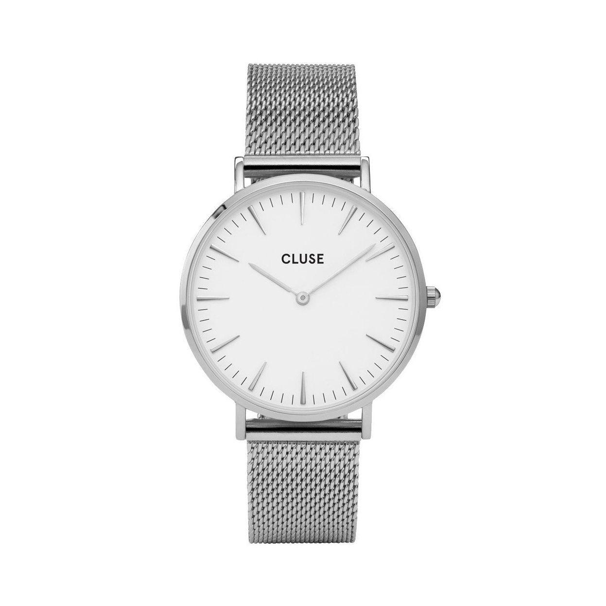 Montre Cluse La Bohème Mesh Silver/White vue 1